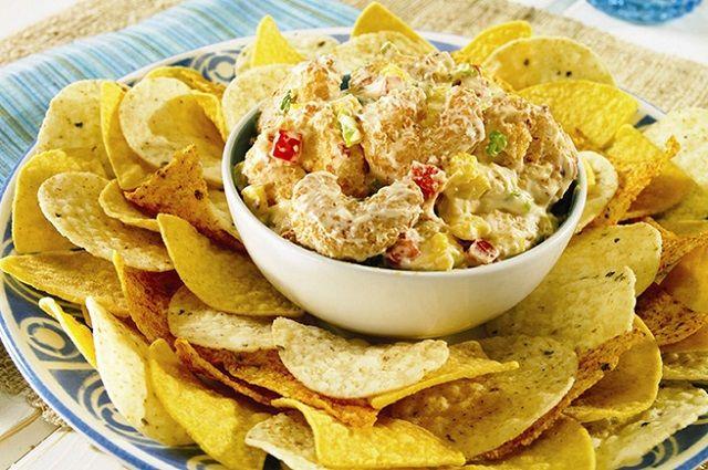 Southwestern Popcorn Shrimp Dip