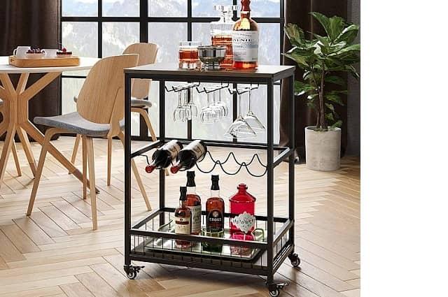 Mobile Bar & Serving Cart