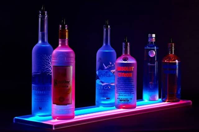 LED Double Wide Liquor Shelf