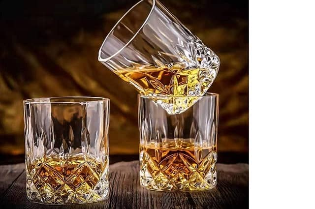 Old Fashioned Crystal Whiskey Glasses Set