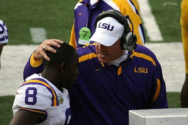 Former LSU Football Coach Inappropriate Behavior