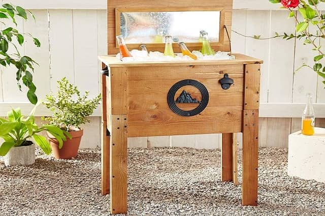 Outdoor Wooden Rustic Mountain Cooler