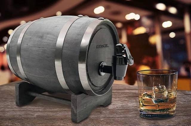 Godinger Wooden Barrel Liquor Dispenser