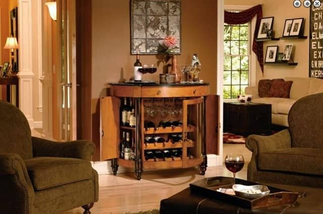 Howard Miller Merton Wine and Bar Storage Console