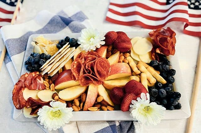 July 4th Charcuterie boards with Veroni Deli Meats