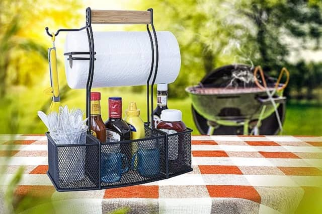 Tailgate BBQ Condiments & Supplies Caddy