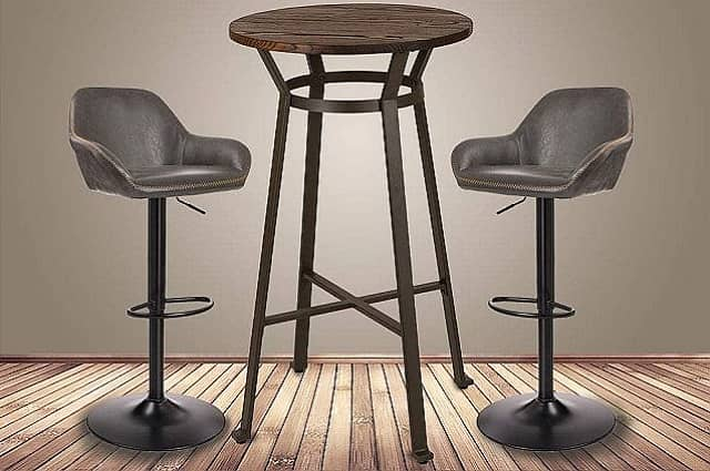 Rustic Pub Height Bar Table Set